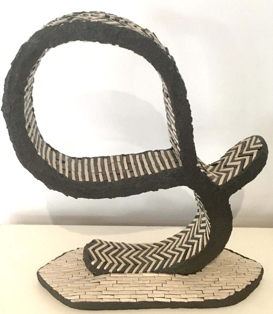 Black & white abstract sculpture